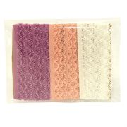 Knicker Elastic Pack - White, Powder Pink, Pale Violet